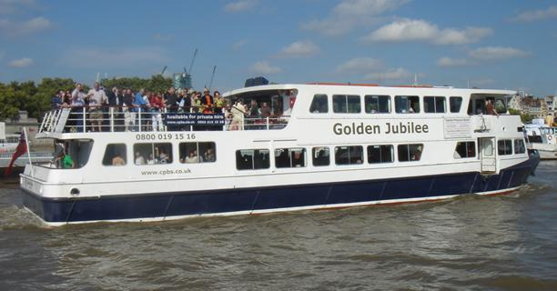 Golden Jubilee on the Thames in London