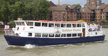 Golden Flame Party Boat