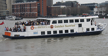 Golden Sunrise Party Boat